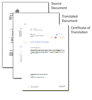 Certificate of Certified Translation